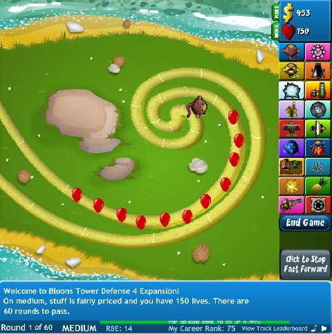 Bloons TD 4 Extended online Strategie