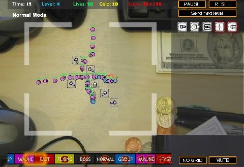 Online hra Desktop Tower Defense