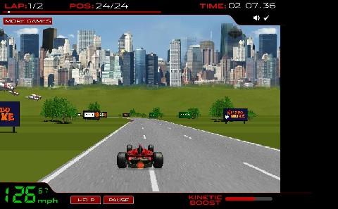 Online hra Formula Racer
