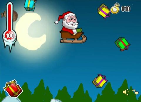 Online hra Santa na saních
