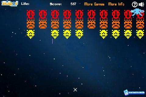 Online hra Space invaders