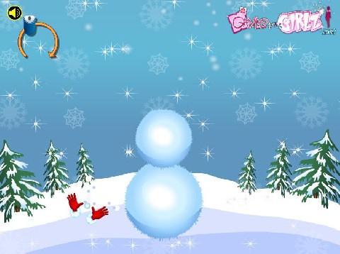 Online hra Stavění sněhuláka