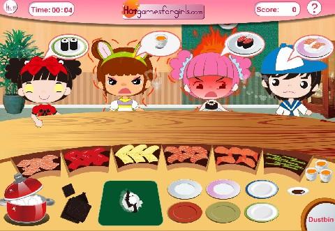 Online hra Sushi bar