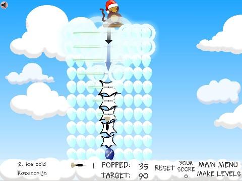 Online hra Vánoční balónky