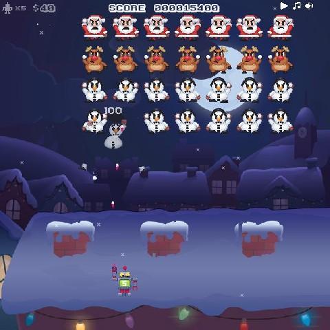 Online hra Vánoční invaze