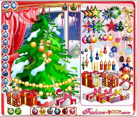 Online hra Vánoční stromeček